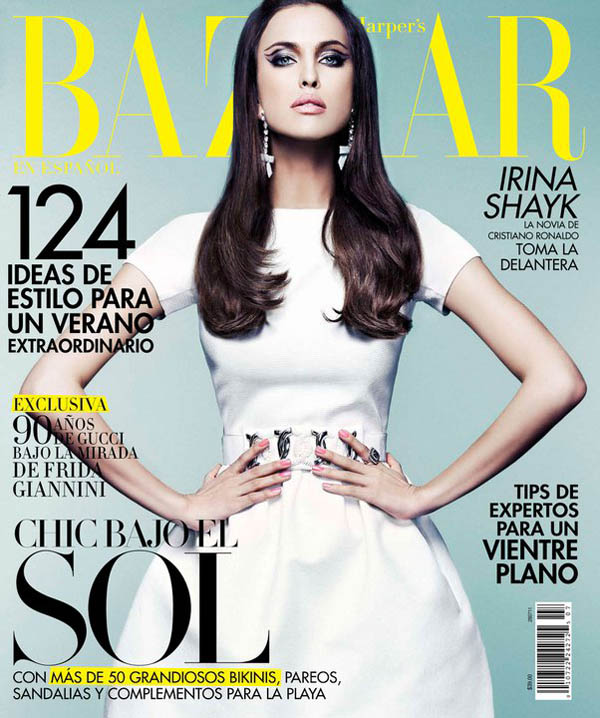 Harper's Bazaar Mexico July 2011 Cover   Irina Shayk by Jose Manuel Ferrater