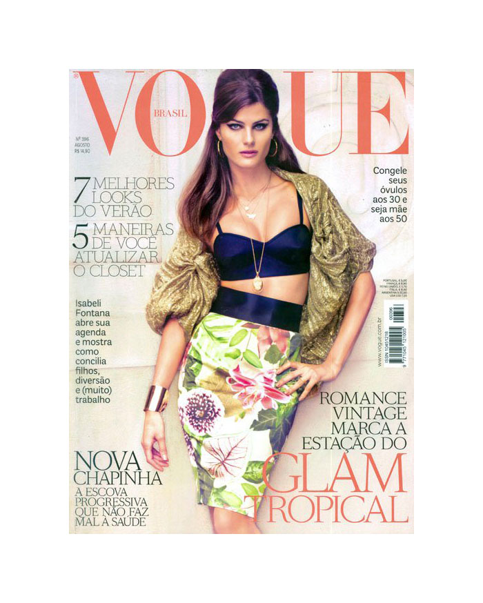 Vogue Brazil August 2011 Cover | Isabeli Fontana by Jacques Dequeker