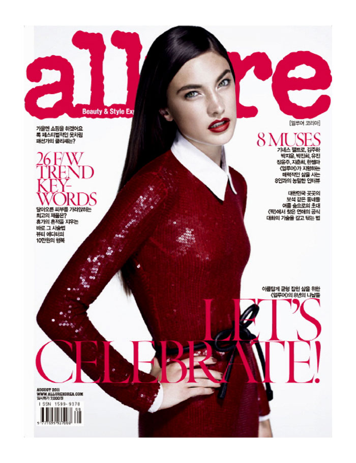 Allure Korea August 2011 Cover | Jacquelyn Jablonski by Catherine Servel