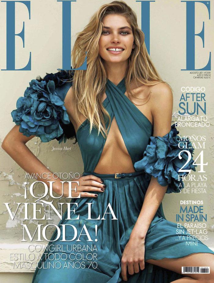 Elle Spain August 2011 Cover | Jessica Hart by Santiago Esteban