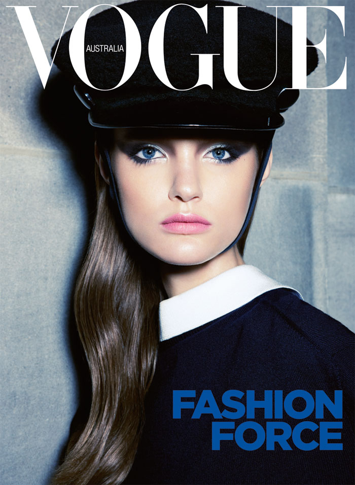 Vogue Australia tapped Katie Fogarty for its September cover. / Photo by Kai Z Feng