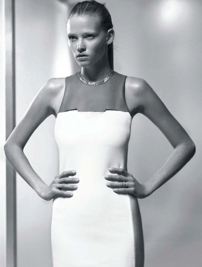 Lara Stone in Calvin Klein for Vogue Russia July 2011