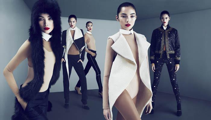 Lane Crawford Fall 2011 Campaign | Liu Wen, Fei Fei Sun, Ming Xi, Shu Pei, & Xiao Wen Ju by Mert & Marcus