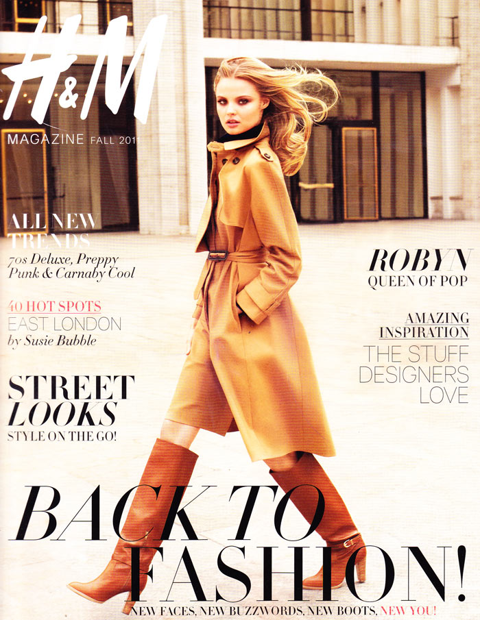 H&M Magazine Fall 2011 Cover | Magdalena Frackowiak by Terry Richardson