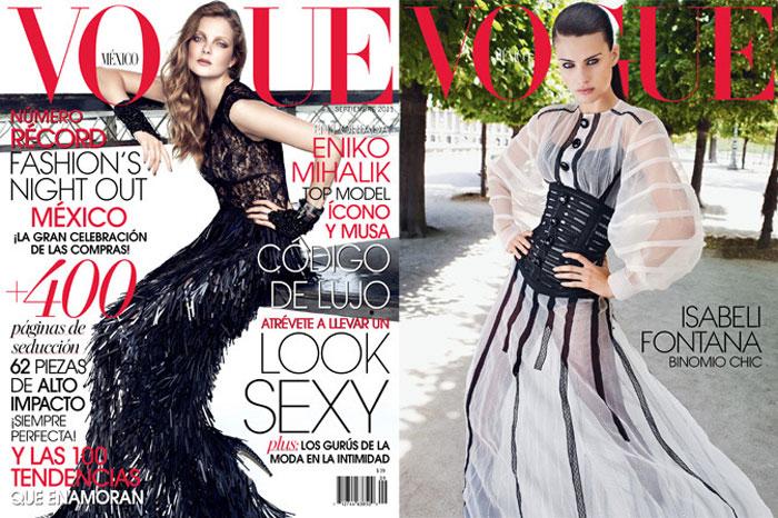Vogue Mexico September 2011 Cover | Isabeli Fontana, Eniko Mihalik & Anna Jagodzinska