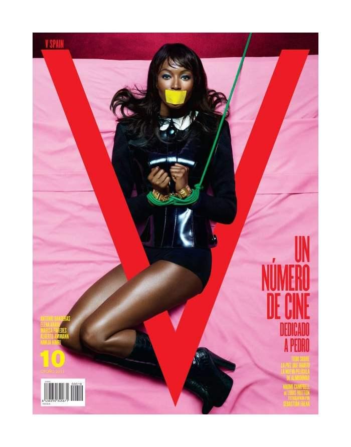 V Magazine Spain Fall 2011 Cover | Naomi Campbell by Sebastian Faena