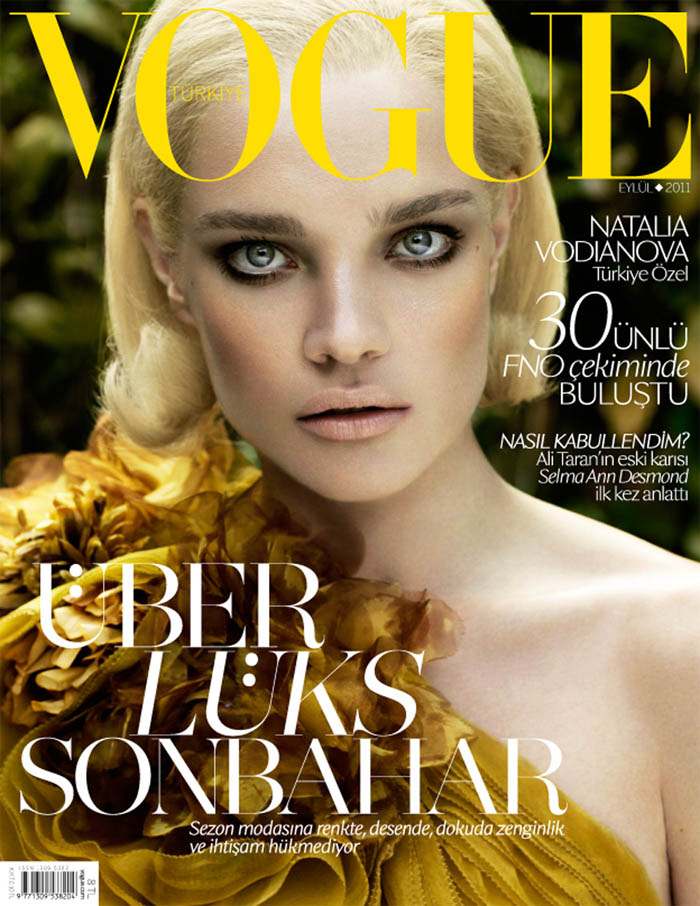 Vogue Turkey September 2011 | Natalia Vodianova by Cuneyt Akeroglu