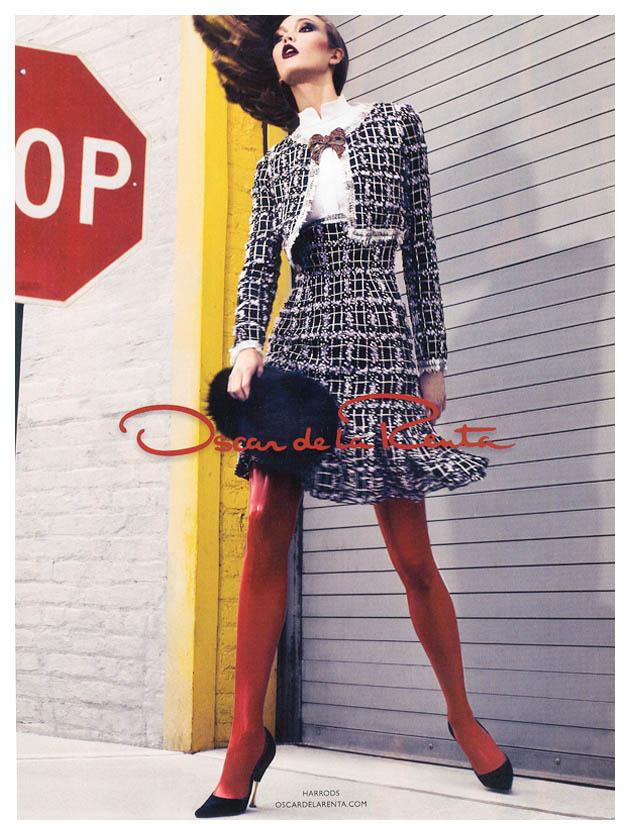 Karlie Kloss for Oscar de la Renta Fall 2011 Campaign by Craig McDean
