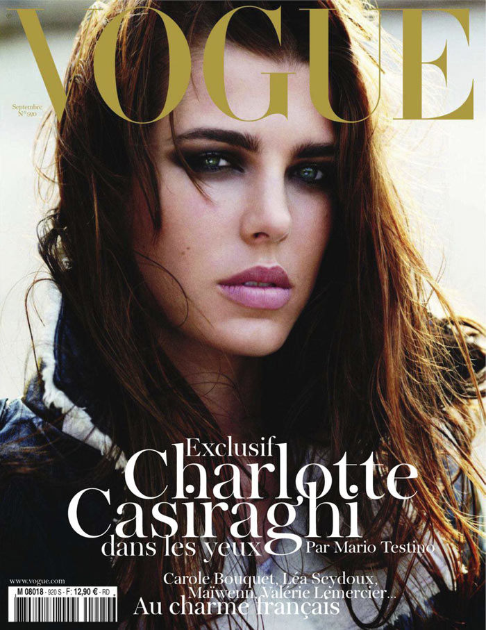 Vogue Paris September 2011 Cover | Charlotte Casiraghi by Mario Testino