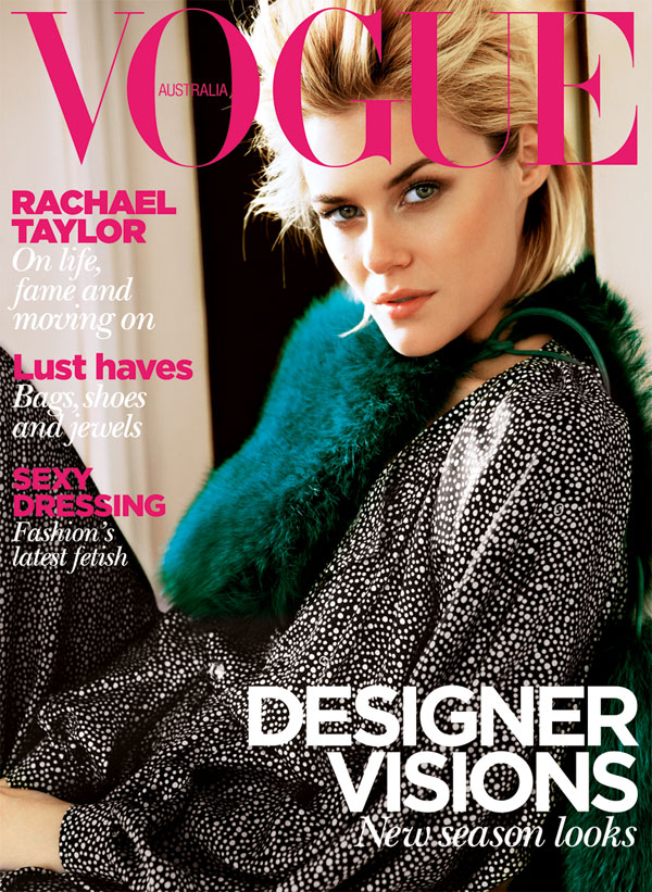 Vogue Australia August 2011 Cover | Rachael Taylor by Nick Leary