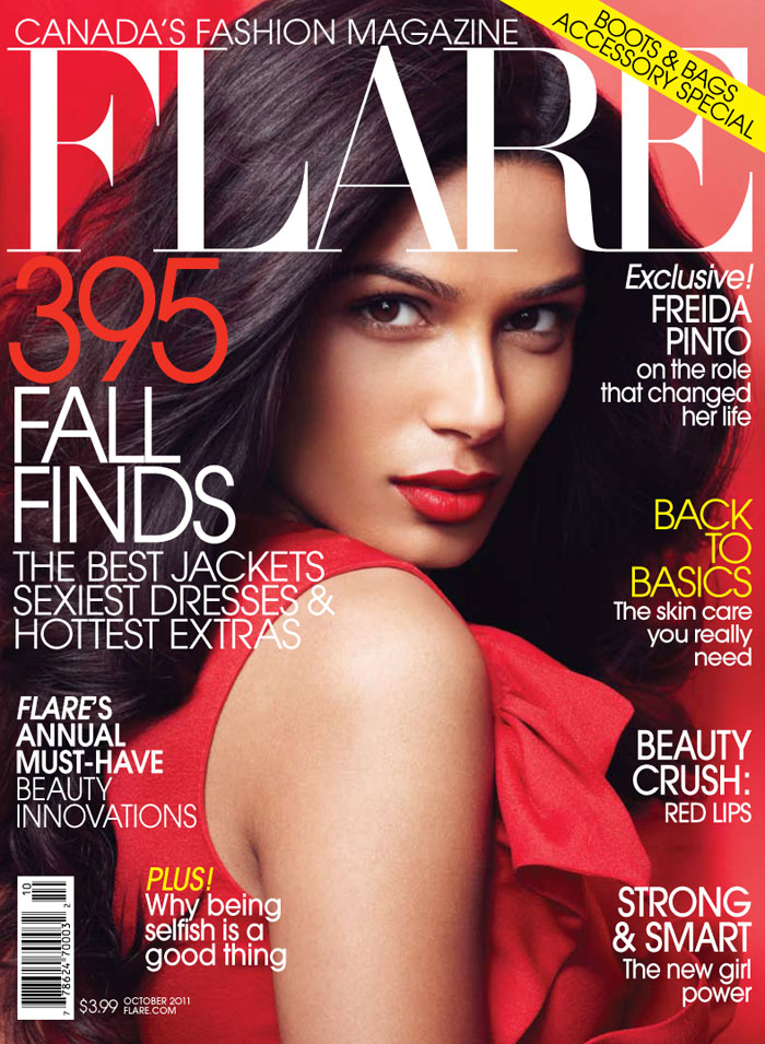 FLARE October 2011 Cover | Freida Pinto by Max Abadian