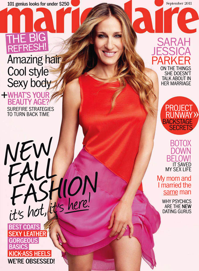 Marie Claire US September 2011 Cover | Sarah Jessica Parker by Tesh