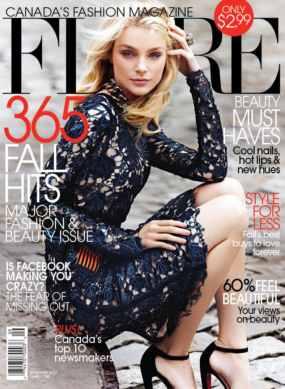 Jessica Stam for FLARE September 2011 (Cover)