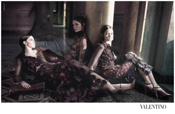 Valentino Fall 2011 Campaign | Jac Jagaciak, Ruby Aldridge, Caroline Brasch Nielsen & Others by David Sims