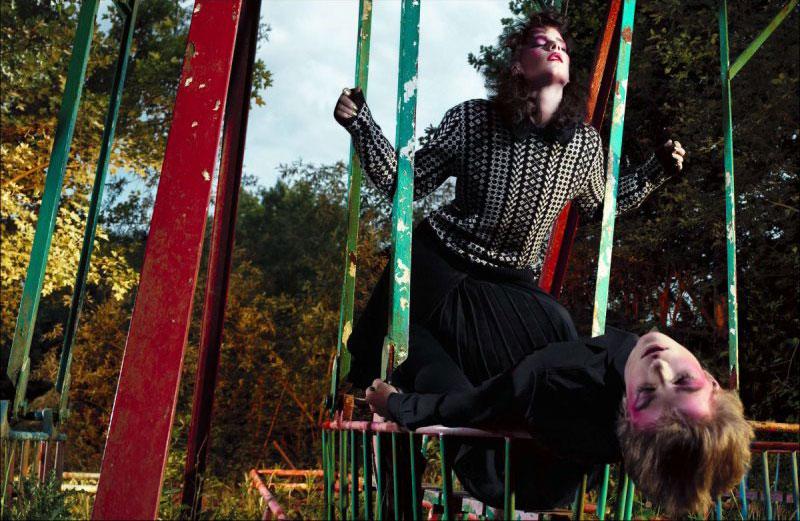 Tati Cotliar & Querelle Jansen by Willy Vanderperre for LOVE F/W 2011