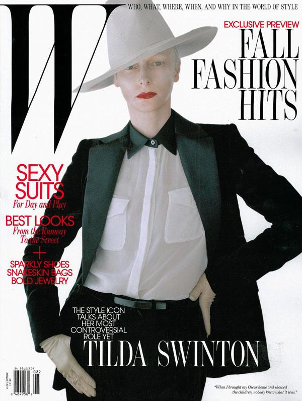 Tilda Swinton in Salvatore Ferragamo for W Magazine August 2011 (Cover)