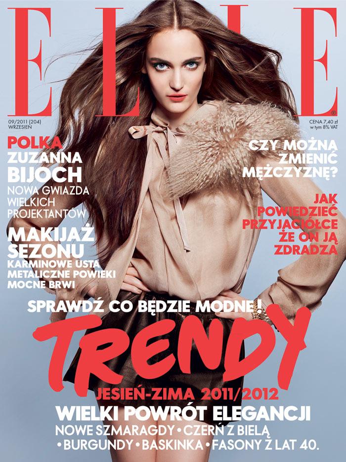 Elle Poland September 2011 Cover | Zuzanna Bijoch by Aldona Karczmarczyk