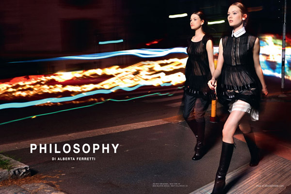 Philosophy di Alberta Fall 2010 Campaign | Monika & Kristina by Max Montingelli