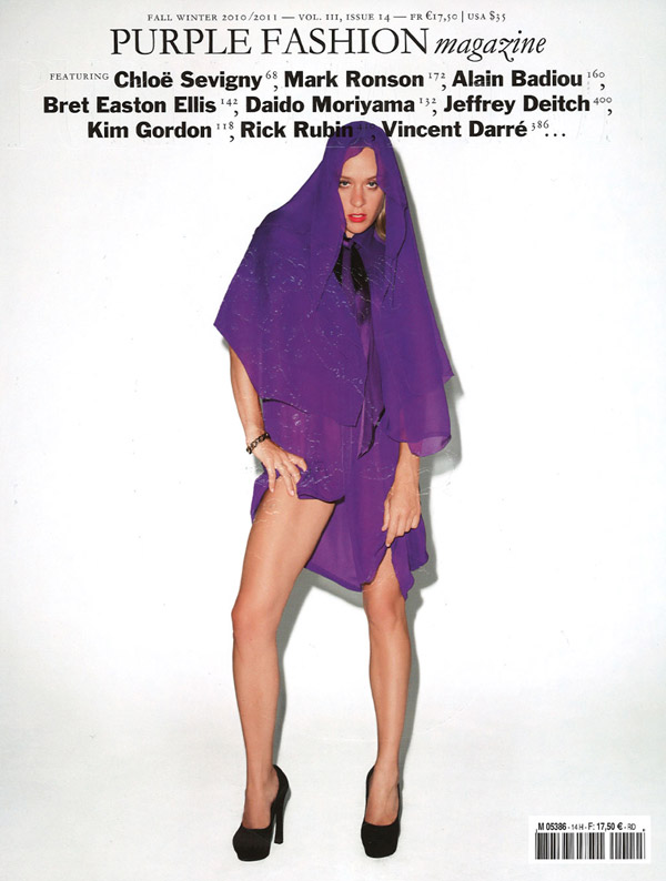 Purple Fashion F/W 2010 Cover | Chloe Sevigny by Terry Richardson