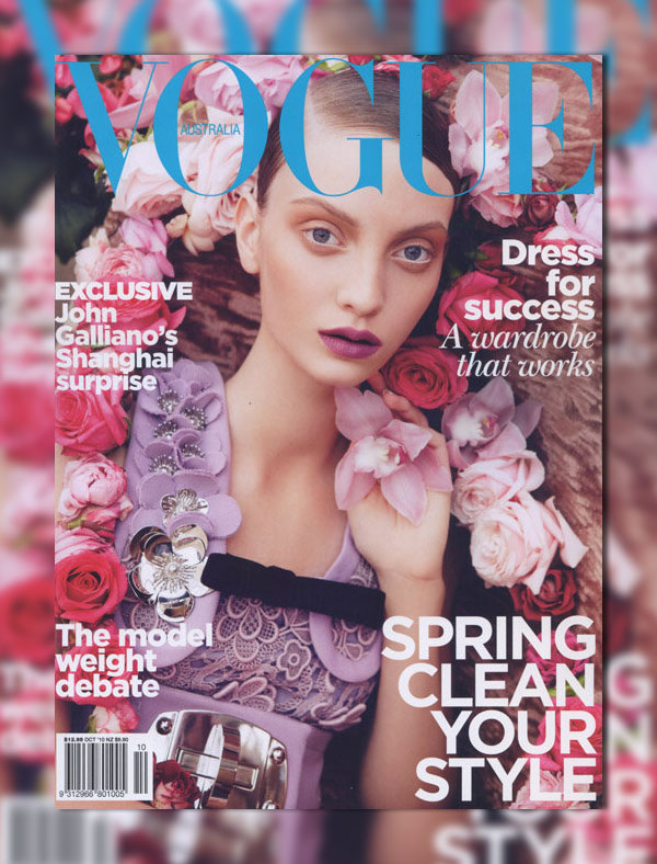 Vogue Australia October 2010 Cover | Codie Young