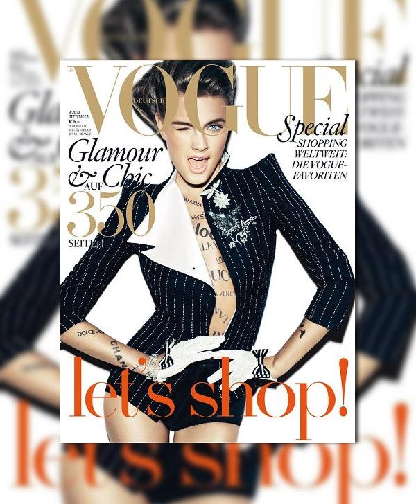 Vogue Germany September 2010 Cover   Constance Jablonski by Alexi Lubomirski
