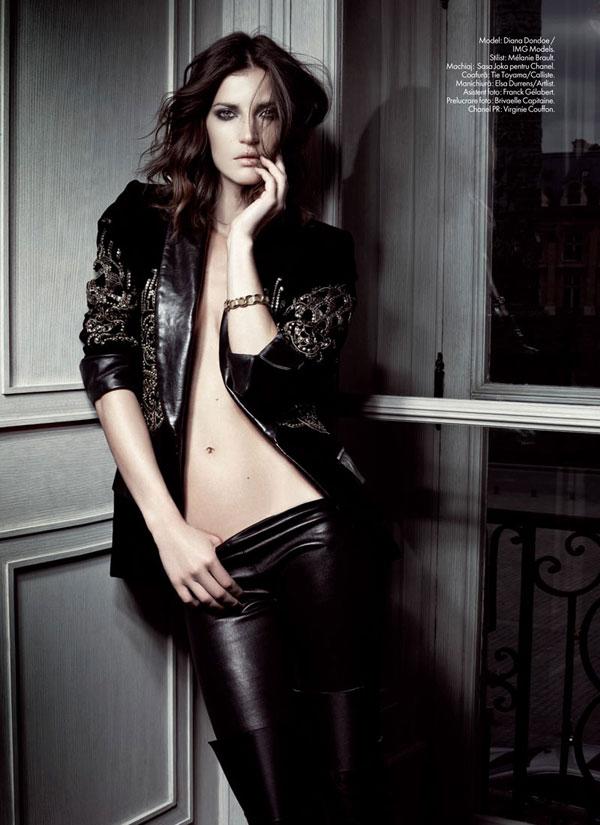 Diana Dondoe by Sylvie Malfray for Elle Romania September 2010