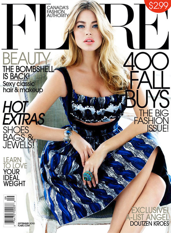 Flare September 2010 Cover | Doutzen Kroes by Max Abadian