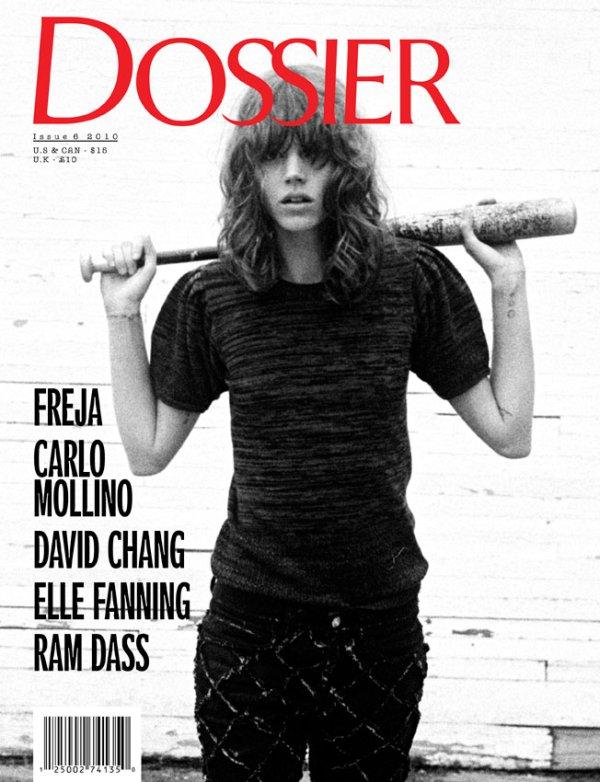 Dossier Journal Fall/Winter 2010 Cover   Freja Beha Erichsen by Cass Bird
