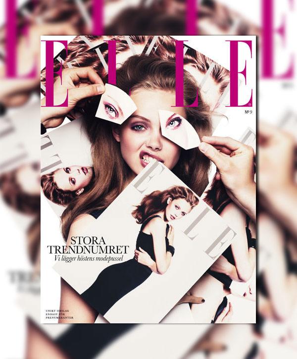 Elle Sweden September 2010 Cover | Frida Gustavvsson