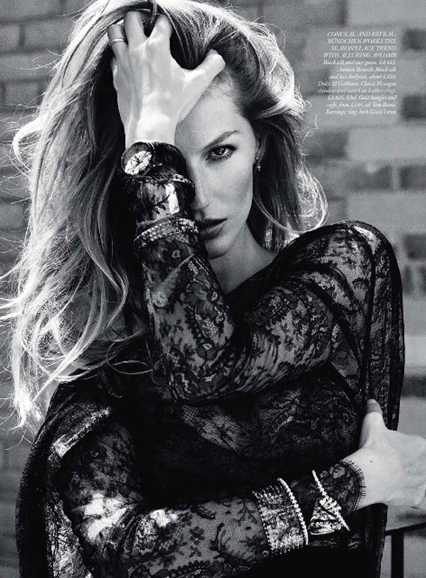 Gisele Bundchen for Harper's Bazaar UK September 2010 by Cédric Buchet