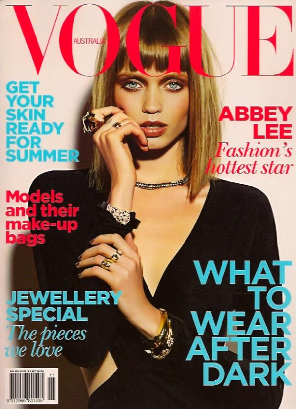 Vogue Australia November 2010 Cover   Abbey Lee Kershaw