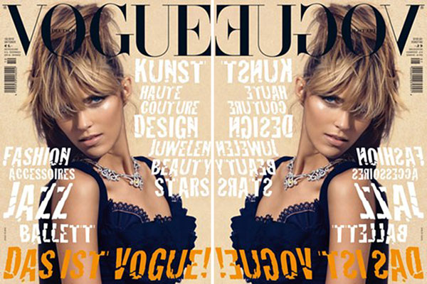 Vogue Germany October 2010 Cover | Anja Rubik by Camilla Akrans