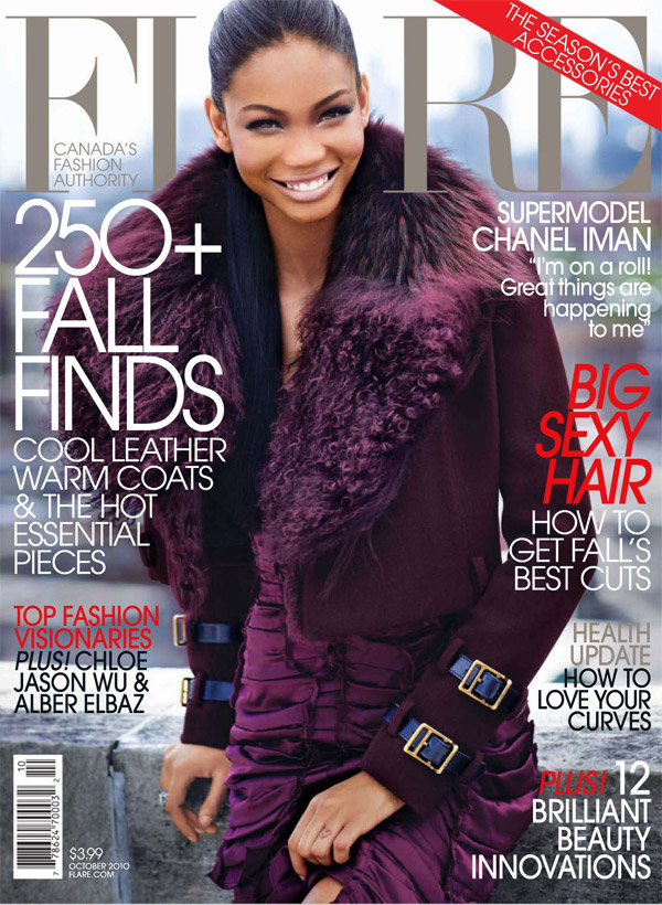Flare October 2010 Cover | Chanel Iman by Max Abadian