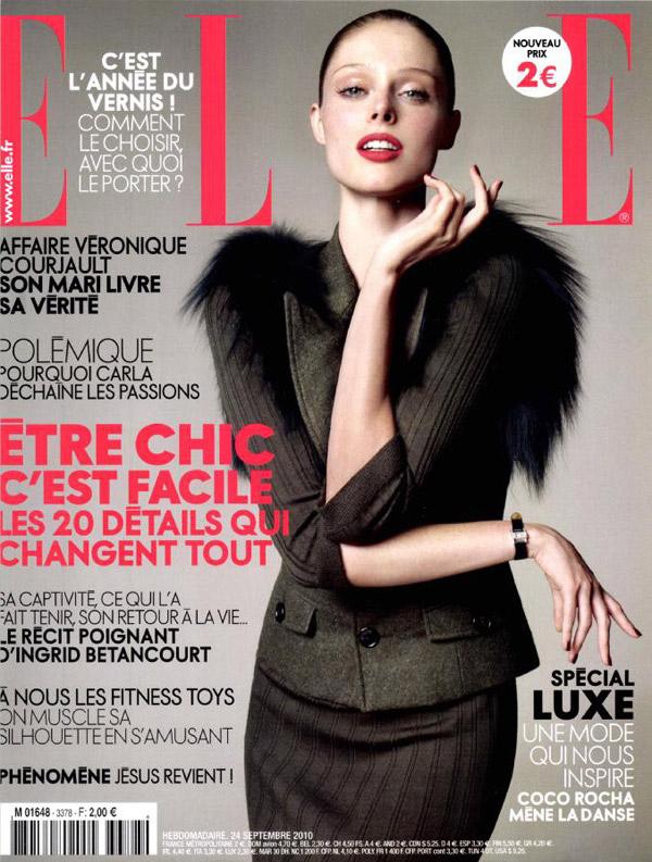 Elle France September 24, 2010 Cover | Coco Rocha