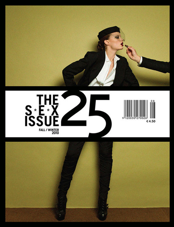 25 Magazine Fall / Winter 2010 Cover   Naty Chabanenko by Victor Demarchelier