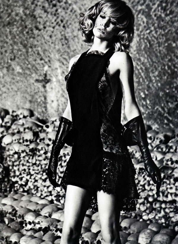 Raquel Zimmermann by Mario Sorrenti in Darker is the Memory | Vogue Nippon October 2010