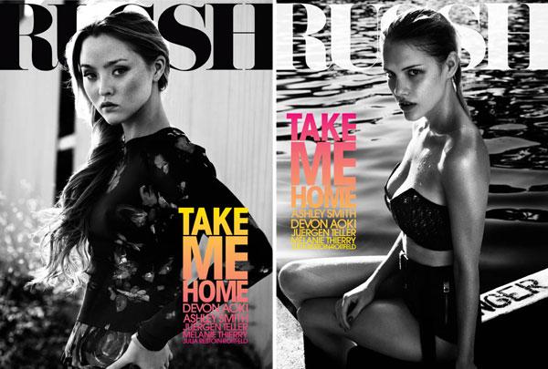 Russh #36 October/November 2010 Cover | Devon Aoki & Ashley Smith by Will Davidson