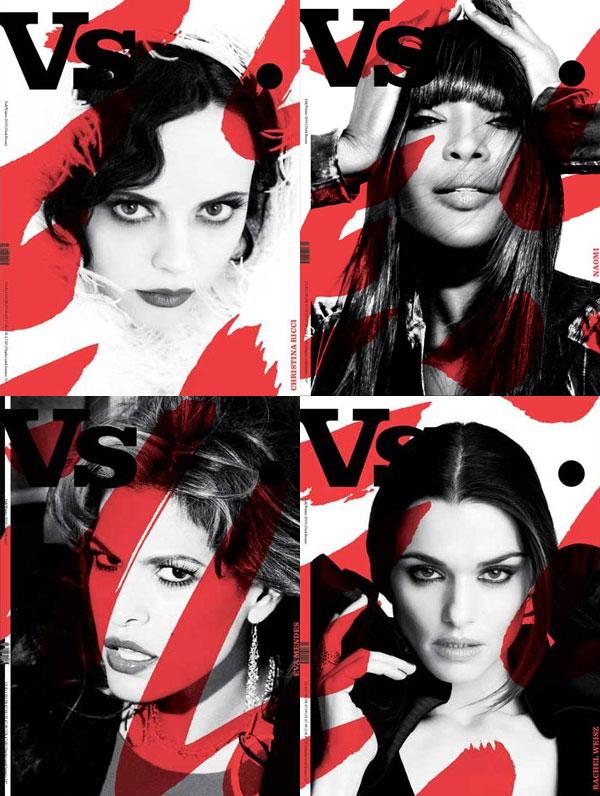 Vs. Magazine F/W 2010 Covers | Naomi Campbell, Christina Ricci, Eva Mendes & Rachel Weisz