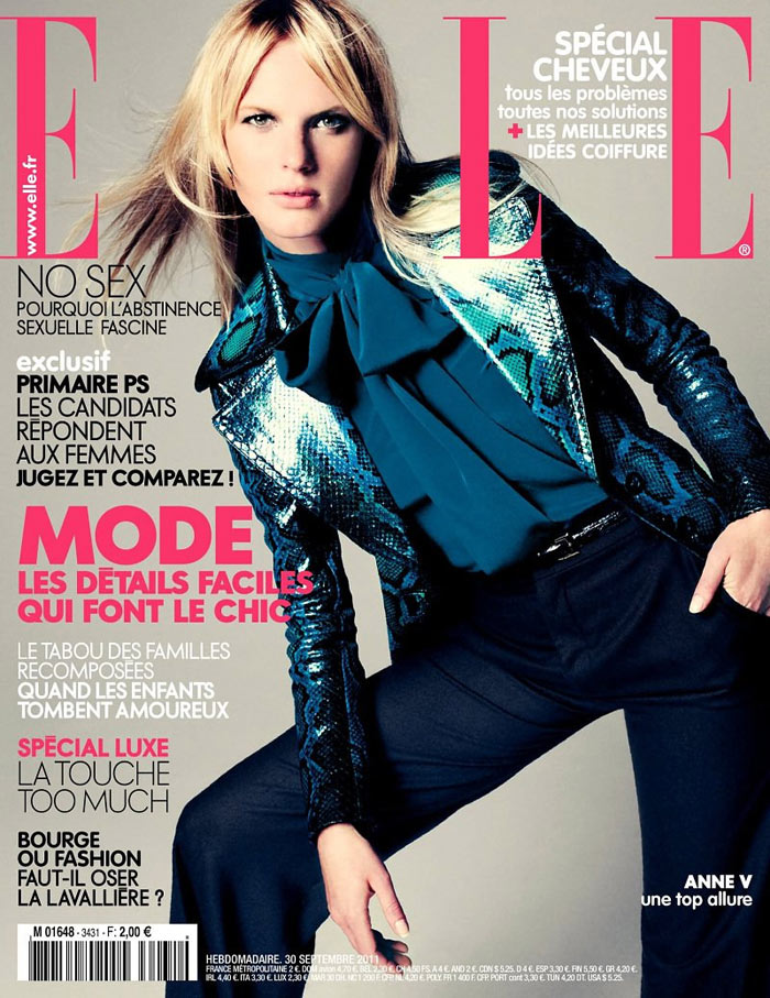 Elle France September 2011 Cover | Anne Vyalitsyna by Nagi Sakai