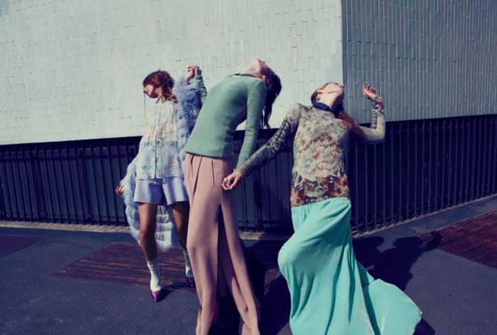 Polina Synyavska, Michelle Schermer & Alma Durand by Alessio Bolzoni for Grey #5