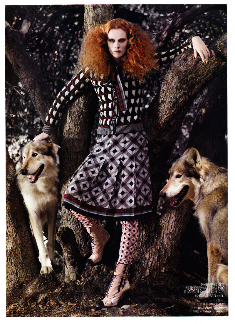 Karen Elson by Mark Segal for Vogue China November 2011