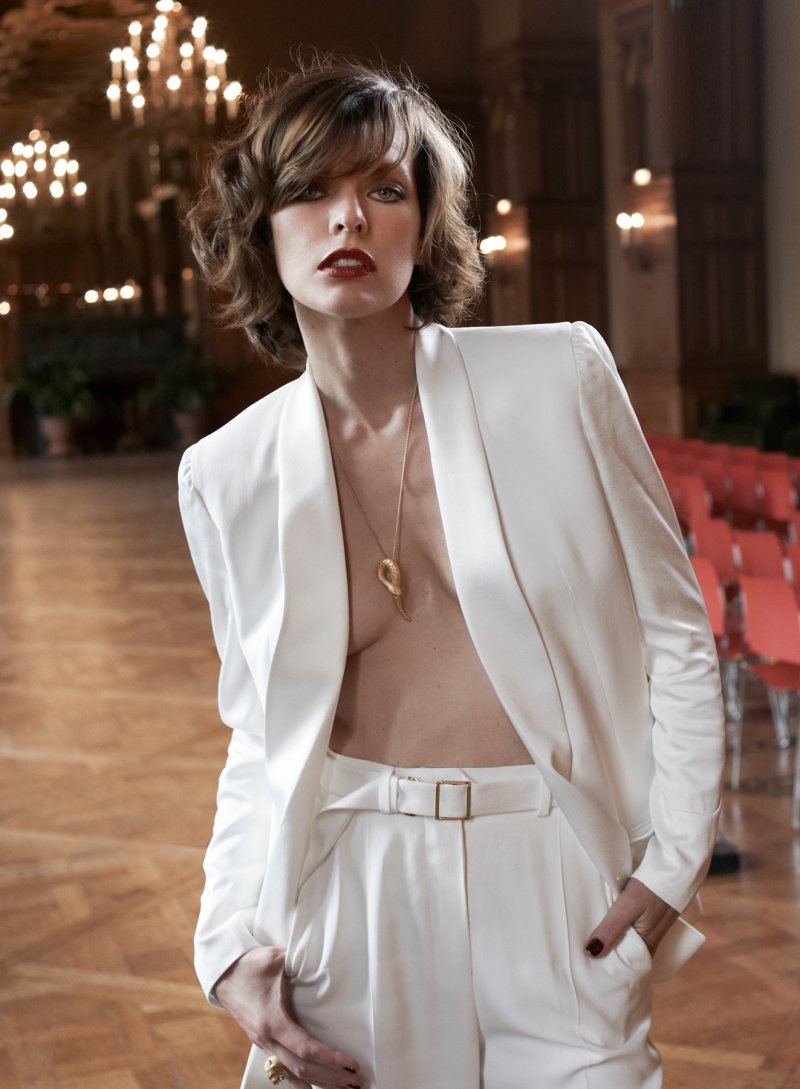 Milla Jovovich by Eric Guillemain for S Moda October 2011