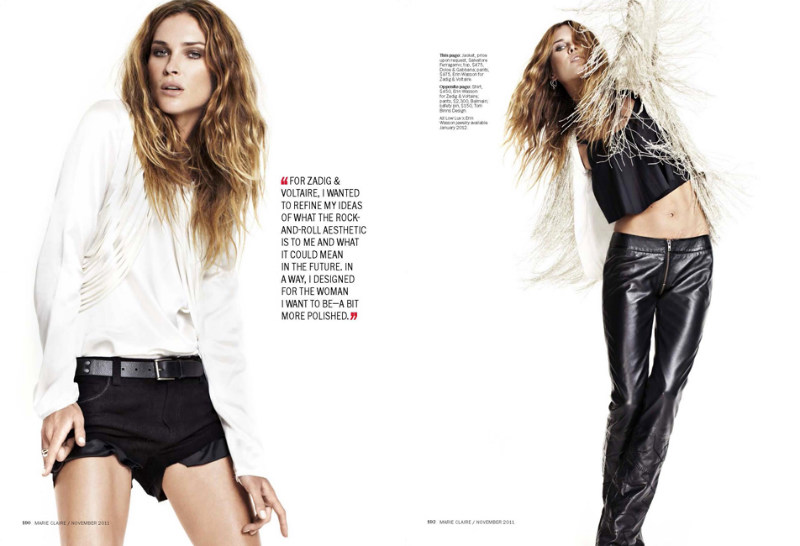 Erin Wasson by David Roemer for Marie Claire US November 2011