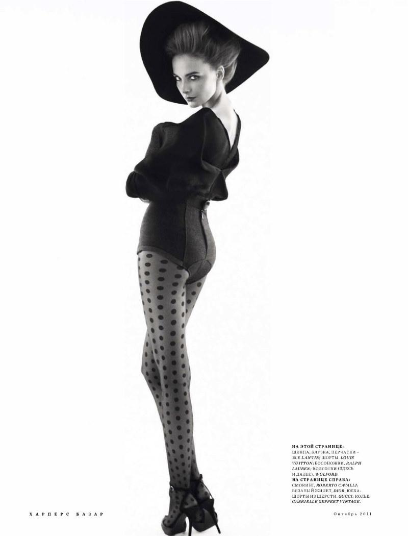 Snejana Onopka by Benjamin Alexander Huseby for Harper's Bazaar Russia October 2011