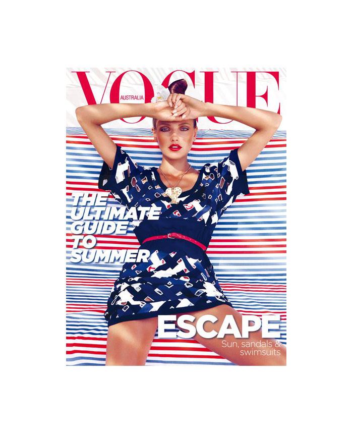 Vogue Australia November 2011 Cover | Alina Baikova by Nicole Bentley
