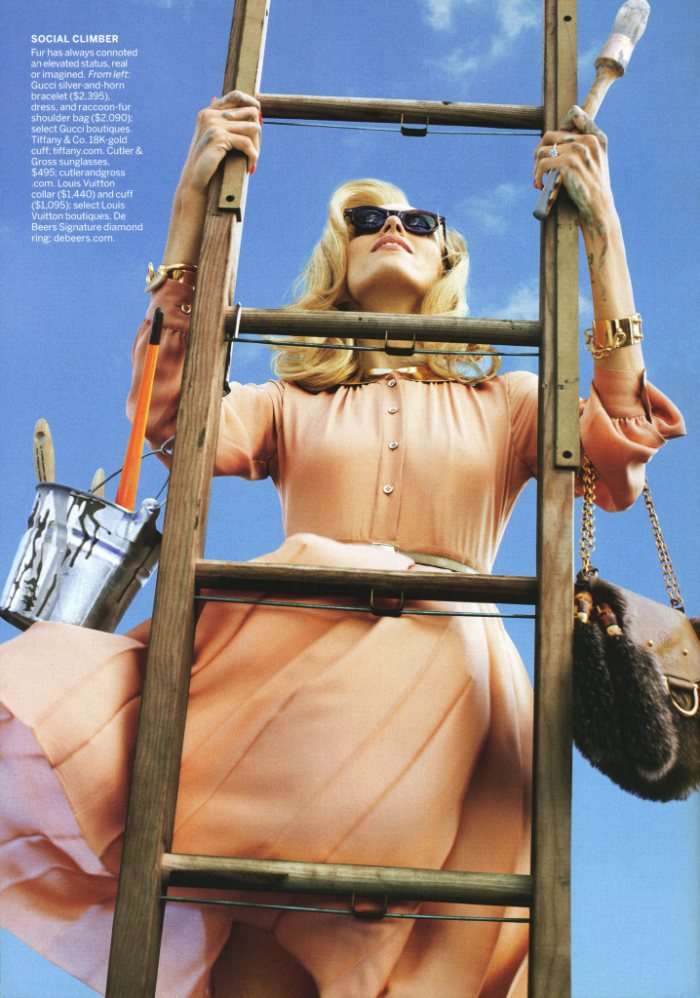 Anja Rubik by Alex Prager for Vogue US