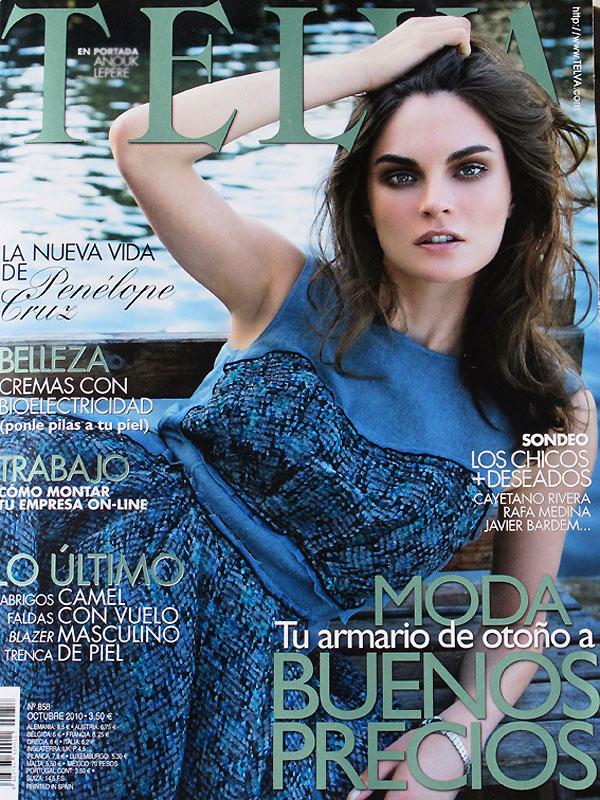Telva October 2010 Cover | Anouck Lepere by Ruben Vega