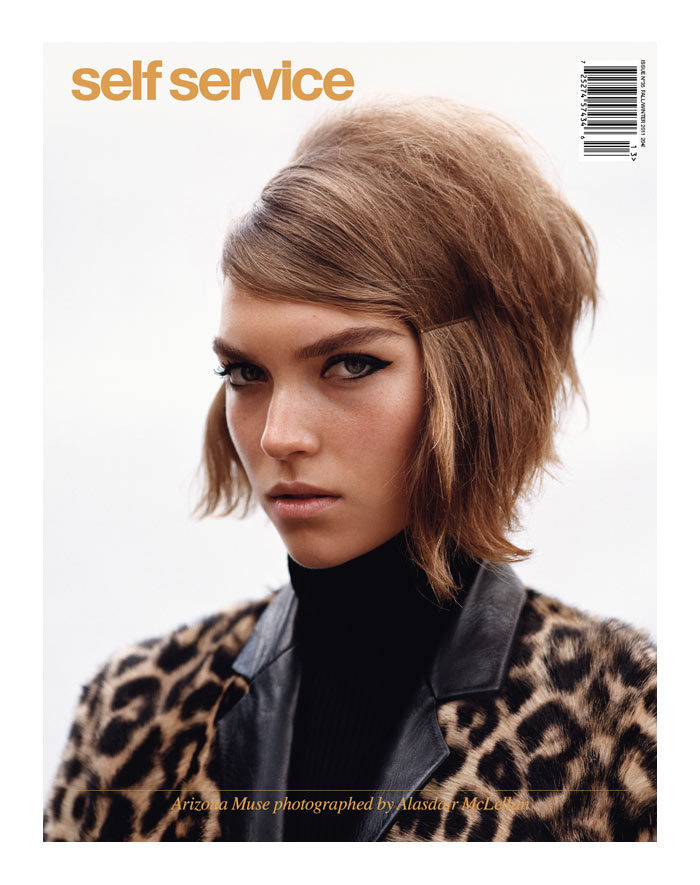 Self Service F/W 2011 Cover | Arizona Muse by Alasdair McLellan