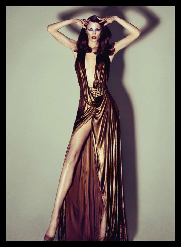 Aymeline Valade in Gucci for Harper's Bazaar Spain October 2011