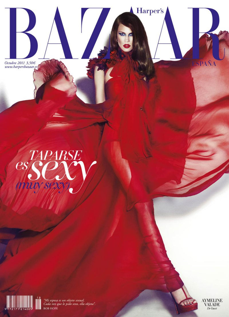 Aymeline Valade Covers Harper's Bazaar Spain October 2011 in Gucci